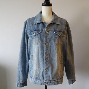Twiin Over & Under Girlfriend Blue Denim Jacket L